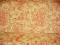 5-1/4Y Scalamandre GW 00021369 Sungari GW Brick Chinois Toile Upholstery Fabric