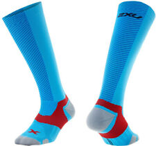 2XU Elite X:Lock Compression Mens Running Socks - Blue