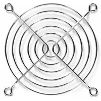 92 mm Fan Grill Chrome Metal Wire Protector Finger Guard PC Case 92mm 3.5 inch