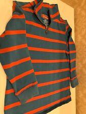 LL Bean Boy's Size 5-6 Long Sleeve Quarter Zip Red & Blue Pullover Top