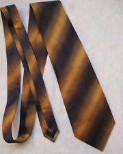 BLAKES da Uomo Cravatta Scintillante Nero Oro Cravatta con motivo