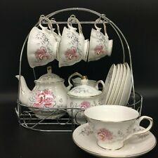 Coffee Tea Set Cup Teapot Saucer Porcelain Jingdezhen China 15 pieces High Tea