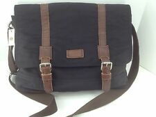 Men's FOSSIL Brand Black CANYON Messenger Bag - $188 MSRP
