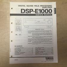 Original Yamaha Service Manual for DSP-E1000 Sound Field Processing Amplifier