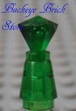 NEW Lego Trans GREEN Potter  POTION BOTTLE Perfume Minifig Jar w/Gem Jewel