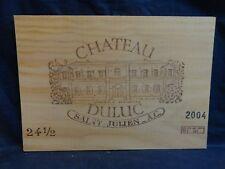 2004 CHATEAU  DULUC DUCRU  ST JULIEN  WOOD WINE PANEL END