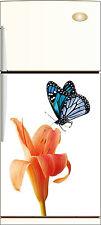 Sticker frigo déco cuisine Fleur papillon 60x90cm Réf 215