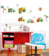 CAR, TRUCK, BUS.. Kids Removable wall sticker for kids room or nursery