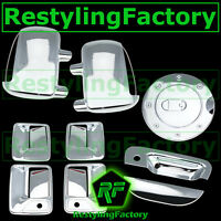 99-07 Ford Super Duty Chrome Mirror Light+4 Door Handle w/KH+Tailgate+GAS Cover