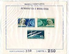 astronautica foglio francobolli originale anni 60