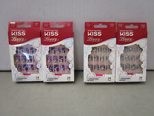 4 KISS LUXURY NAILS MEDIUM LENGTH 2 DIFFERENT KINDS  MM 178M
