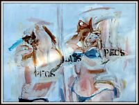 "David Ozersky's ""Pecs..Lats..Pecs"" Original Painting ""Expressionistict Abstract"""