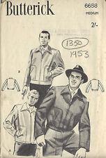 "1953 Vintage Sewing Pattern MEN'S JACKET C38""-40' (1350)"