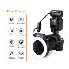 Macro Ring TTL Wireless Flash Slave Unit S1 S2 for Nikon W/ 4 Adapter Rings