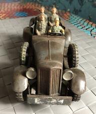 Altes Militärspielzeug Auto Wagen Metall Tippco Hausser Elastolin 4 Figuren