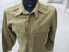 WWII US Army Officer's OD Wool Shirt