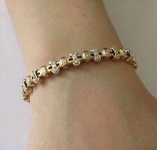 "Less than 7"" Tennis Yellow Gold Fine Diamond Bracelets"