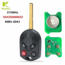4Button Remote Key Fob 315MHz 4D63 for Ford Escape 2012 - 2015 FCC:OUCD6000022