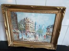 Vintage oil painting framed signed