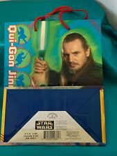 Vintage Star Wars Gift Bag Obi-Wan Kenobi Qui-Gon Jinn Darth Maul Jar Jar Binks