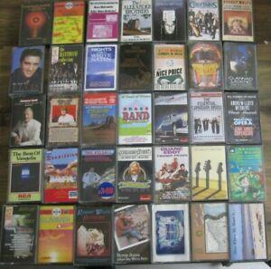 EASY LISTENING Cassette Tapes: Job Lot of 35 Cassettes