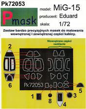 Mig-15 PITTURA Maschera Per Eduard KIT #72053 1/72 pmask