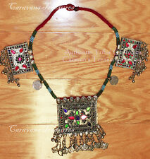 Kuchi Square Pendant Necklace Large Pendant Tribal Fusion Belly Dance ATS