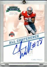 2009 PRESS PASS 23/25 AUTO CHRIS WELLS OHIO STATE