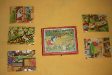 Antique Vintage Small Childrens Picture Blocks Set Fairy Tales Good w/ Pictures