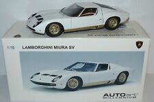 AUTOArt 1:18 Nr. 74544 OVP ++ Lamborghini Miura SV in weiß / gold ++ TOP #D5_531