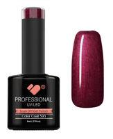 593 VB Line Dark Red Burgundy Metallic - UV/LED nail gel polish - super quality