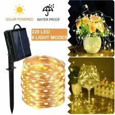 Solar Powered String Lights, 220 LED Fairy Lights IP65 Waterproof Outdoor Lights