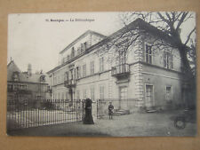 CPA BOURGES (18) LA BIBLIOTHEQUE. ANIMEE.