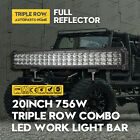 20inch 756W Cree LED Light Bar Spot Flood Combo Offroad Work Driving Lamp 4WD