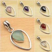925 Silver Plated Over Solid Copper & Other Gemstone Pendant FASHION Jewelry NEW