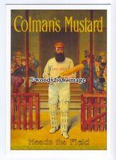 ad0527 - Colmans Mustard - Heads The Game - Cricket -  Modern Advert Postcard