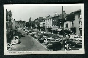 c1960s View: Cars Parked, Shop Fronts, High Street Andover