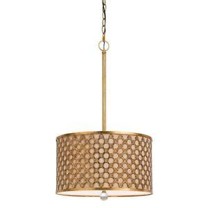 Cal Lighting Fairview 3 Light Metal Pendant, French Gold - FX-3597-1P