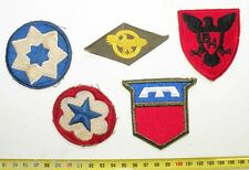 lot de 5 Patchs Originaux US Army WWII ( 135 )