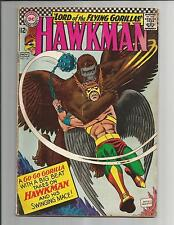 HAWKMAN #16  VG  VERY GOOD  OFF- WHITE PAGES SILVER AGE1967 DC COMICS
