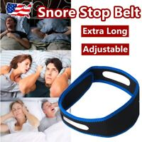 Stop Snoring Chin Strap Anti Snore Sleep Apnea Belt Device Solutions Jaw Blue US