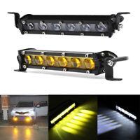 """8""""Auto LED Arbeitsscheinwerfer Rückfahrscheinwerfer Lichtleist Offroad Weiß/Gelb"""