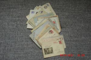 Konvolut von 87 Briefen/Postkarten/Ganzsachen 1882-45 alle Welt aus Sammlung