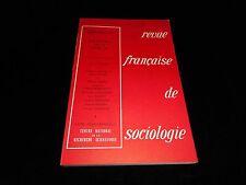 Revue française de sociologie special issue 1973
