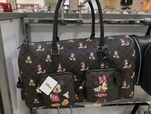Disney Mickey & Minnie Mouse Monogram Weekend Luggage Holdall Travel Bag Primark
