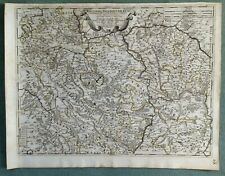 GERMANY PALATINATE 1688 DE ROSSI-CANTELLI DA VIGNOLA LARGE ANTIQUE ENGRAVED MAP