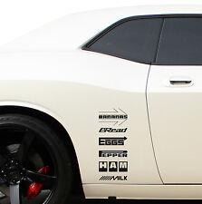 6in1 Funny Sponsors Racing JDM Off Road Drift Car Window Vinyl Sticker Decal