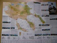 Reisekarte Griechenland Chalkidiki viele Einzel-Stadt-Pläne-kyrillische Schrift