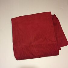 """Pottery Barn Kids Red Corduroy Curtain Panel 50"""" x 84"""" Lined Cotton"""