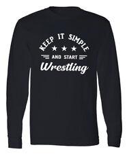 Wrestling Full Long Sleeve T-shirt Professional Wrestler Wrestling Fan Gift Tee